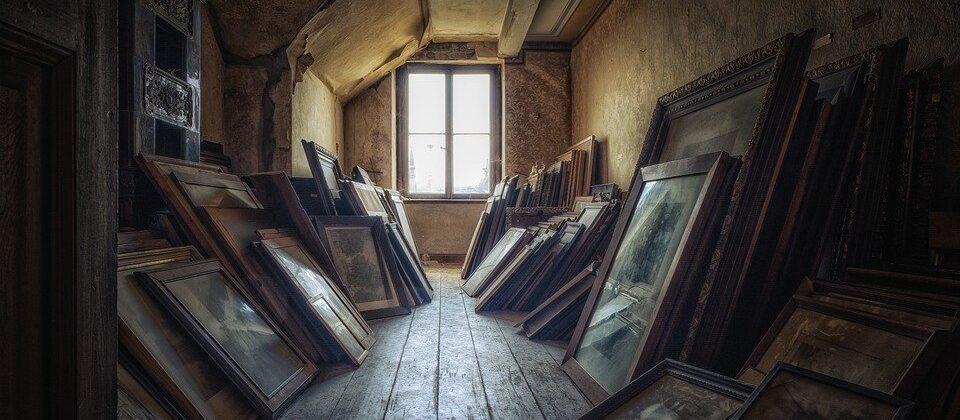 Attic, Room, Window, Artwork, Paintings, Wall Art