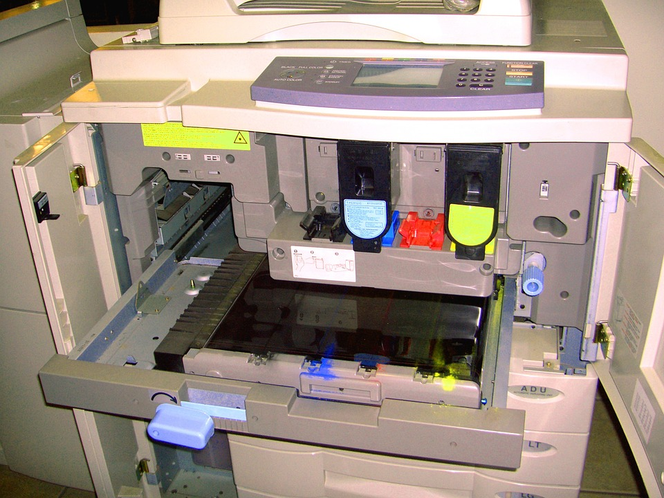 Copier, Inside, Toner, Printer, Equipment, Office